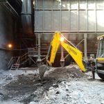 İSDEMİR -DANİELLİ toz toplama sistemi inşaatı